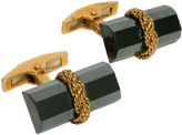One Kings Lane Vintage 18K Gold & Pyrite Baton Cuff Links