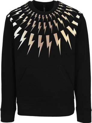 Neil Barrett Thunderbolt Print Crewneck Sweatshirt
