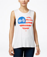 Miss Chievous Juniors' American Flag Graphic Tank Top