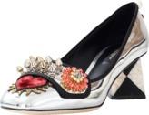 Dolce & Gabbana Metallic Embellished Heel Pump