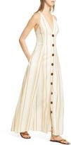 Nicholas Yasmine Chain Print Linen Maxi Dress