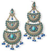 JCPenney Gold-Tone Multicolor Chandelier Earrings