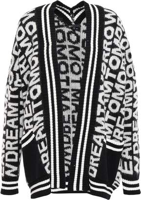Maje Jacquard-knit Cardigan