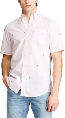 Chaps Big & Tall Classic-Fit Performance Button-Down Shirt