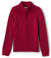 Lands' End Boys Performance Zip-front Cardigan-Red