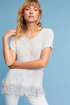 Michael Stars Fringed V-Neck Pullover