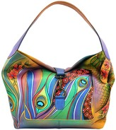 Anuschka Hand-Painted Leather Vintage Fold Over Slouch Shoulder Bag