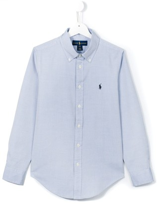 Ralph Lauren Kids logo embroidered button down shirt