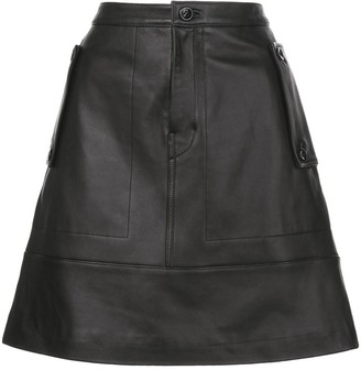 Proenza Schouler White Label Matte Leather Mini Skirt
