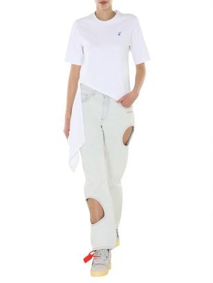 Off-White Logos Spiral Draping T-shirt