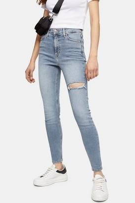 Topshop Bleach Thigh Rip Jamie Skinny Jeans