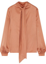 Tom Ford Pussy-Bow Silk-Satin Blouse