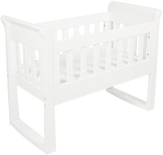 Babyhood Sandton Sleigh Cradle, Bassinet and Rocking Seat White