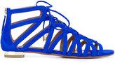 Aquazzura 'Ivy' sandals - women - Chamois Leather/Leather - 37.5