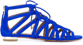 Aquazzura lace up sandals - women - Chamois Leather/Leather - 37