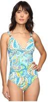 Lauren Ralph Lauren Carnival Paisley Shirred Mio One-Piece Women's Swimsuits One Piece