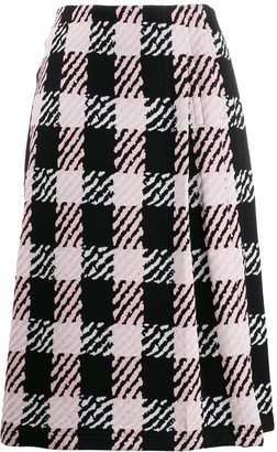 Marni checked midi skirt