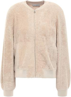 Vince Cotton-blend Fleece Bomber Jacket