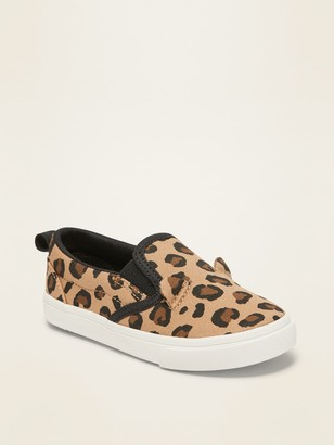 Old Navy Canvas Slip-On Sneakers for Toddler Girls