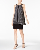 Jessica Howard Petite Printed Popover Dress