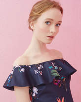 Ted Baker Tropical Oasis Bardot Top Navy