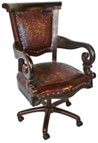 Brawley Genuine Leather Task Chair Canora Grey Color: Antique Brown
