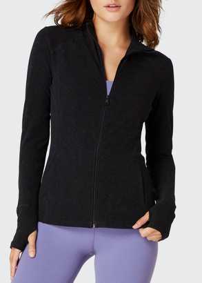 Beyond Yoga Fitted Mock-Neck Jacket
