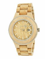 Earth Wood Cherokee Khaki Bracelet Watch with Date ETHEW3401