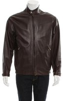 Loro Piana Leather Zip-Front Jacket