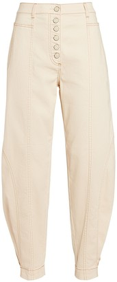 Ulla Johnson Brodie Cropped High-Rise Jeans