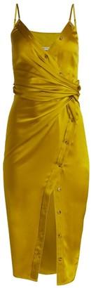 Alexander Wang Cami Satin Faux Wrap Dress