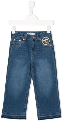 Levi's Cropped Wide Leg Jeans