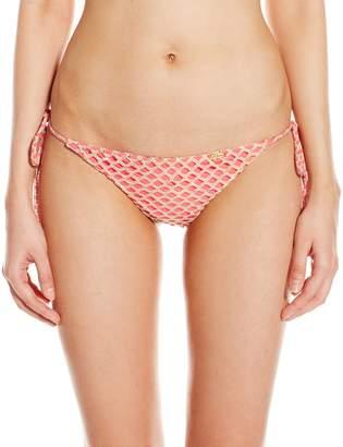Luli Fama Women's Starfish Wishes Wavey Brazilian Ruched Back T/S Bikini Bottom