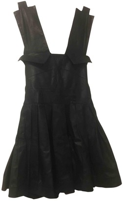 Preen Black Leather Dresses
