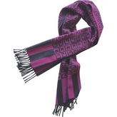 Givenchy Purple Wool Scarf