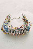 Dannijo Birdie Beaded Denim Choker
