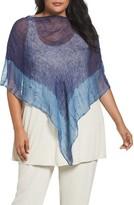 Eileen Fisher Plus Size Women's Shibori Organic Linen Poncho