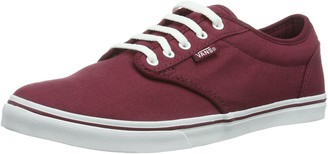 Vans W Atwood Low (Canvas) Womens Hi-Top Red (Burgundy/White) 34.5 EU 2.5 UK