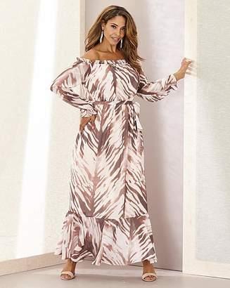 Joanna Hope Zebra Maxi Boho Dress