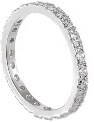 Cz By Kenneth Jay Lane Round CZ Embellished Band Ring