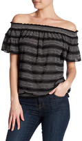 Max Studio Off-the-Shoulder Smocked Knit Blouse