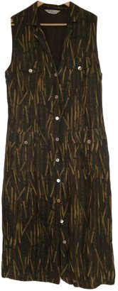 Marella Green Linen Dress for Women Vintage