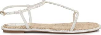 Rene Caovilla Diana Strass Espadrille Flip sandals