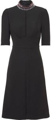 Prada embellished A-line dress