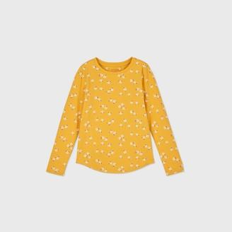 Cat & Jack Girls' Long Sleeve Printed T-Shirt - Cat & JackTM