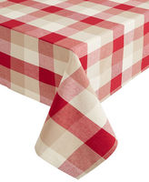 Home Studio 102-Inch Nantucket Plaid Oblong Tablecloth