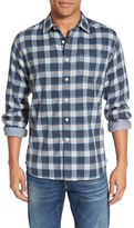 Grayers 'Culver' Trim Fit Check Herringbone Double Woven Sport Shirt