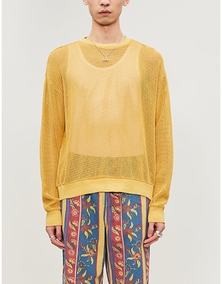 Stussy Mesh cotton-knit jumper