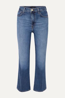 J Brand Julia Cropped High-rise Flared Jeans - Mid denim