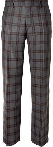 Dries Van Noten Checked Wool Trousers